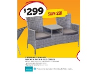 Stratco Sunscape Amalfi Wicker Jack & Jill Chair