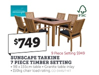 Stratco Sunscape Tarkine 7 Piece Timber Setting