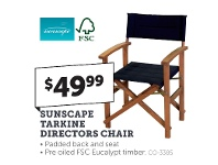 Stratco Sunscape Tarkine Directors Chair