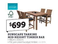 Stratco Sunscape Tarkine Mid Height Timber Bar