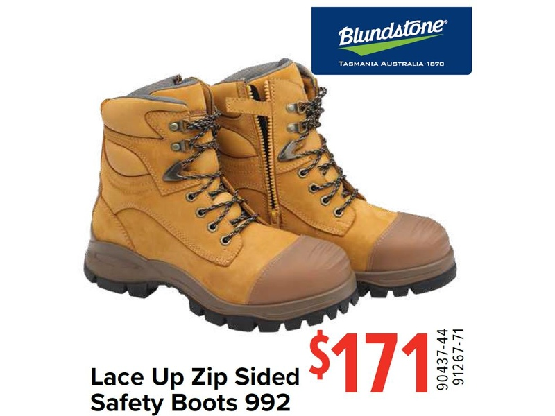 3b2afae47aa Blundstone Lace Up Zip Sided Safety Boots 992 | Total Tools | Lasoo ...