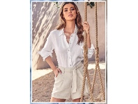 Target Long Sleeve Linen Shirt Sizes 6-20