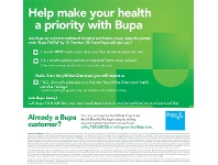 TerryWhite Chemmart Help Make Your Health A Priority With Bupa