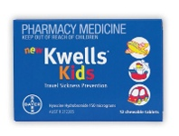 Kwells Kids Travel Sickness Prevention 12 Chewable Tablets