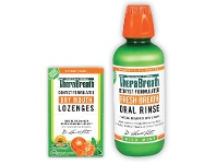 TerryWhite Chemmart TheraBreath Dry Mouth Lozenges 100 Pack Or Oral Rinse Mild Mint 473ml
